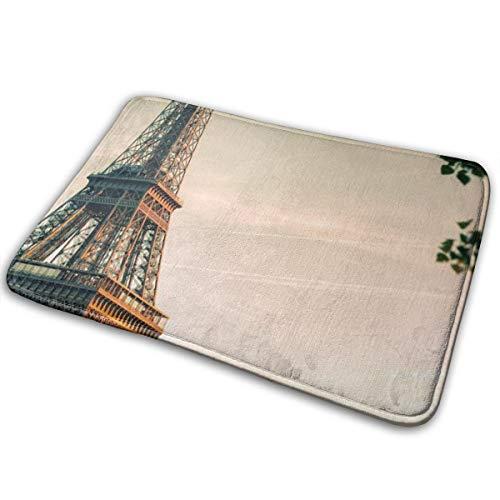 Baerg Non-Slip Stain Fade Resistant Door Mat Eiffel Tower Living Room Rug Carpet 15.7