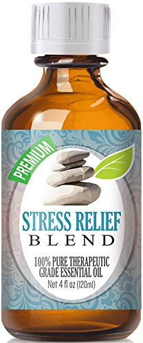 Stress Relief Essential Oil Blend - 100% Pure Therapeutic Grade Stress Relief Blend Oil - 120ml by Healing Solutions