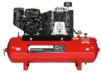 SIP 04338 Airmate Industrial Cinturón unidad compresor de aire super iskp14/200 eléctrico: Amazon.es: Bricolaje y herramientas