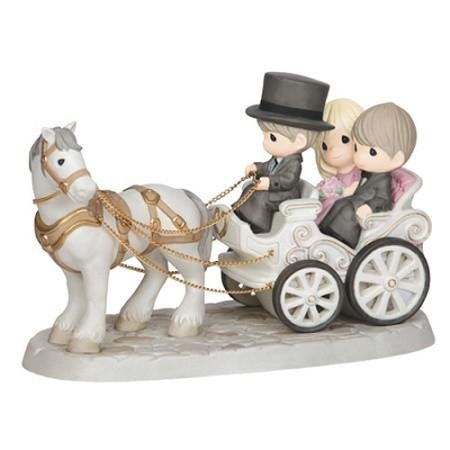 Precious Accessories Moments Wedding - Precious Moments, Together Wherever We Go, Bisque Porcelain Deluxe Sculpture, 143014