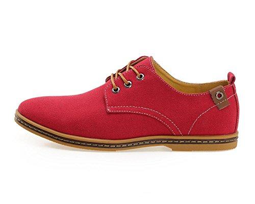 iLoveSIA Men's Canvas Oxfords Shoe US Size 11 Rose Red