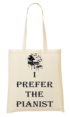 CP I Prefer The Pianist Graphic Bolso De Mano Bolsa De La Compra