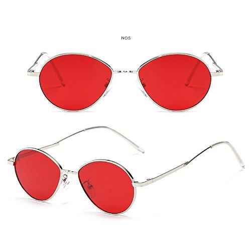 marco puntas Cateye de Aolvo diseño de gafas con retro antideslizantes de hombres adolescentes para metal Gafas de de UV400 niñas unisex sol niños mujer Rojo personalizables de con bols sol círculo XIwEqUx1