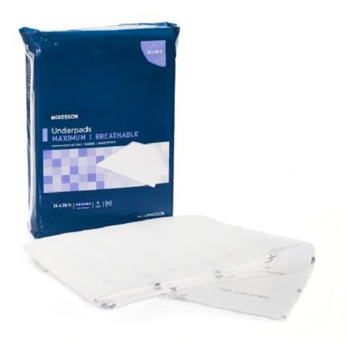 Mckesson Disposable Underpad Max 24 X 36 Inch Heavy Absorbency, UPMX2436 Case of 70