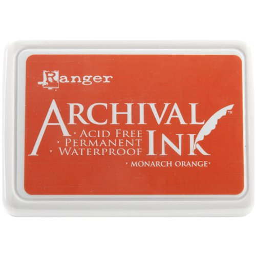 Ranger AIP-31239 Archival Inkpad, Monarch Orange (Pearl Stamp Pad)