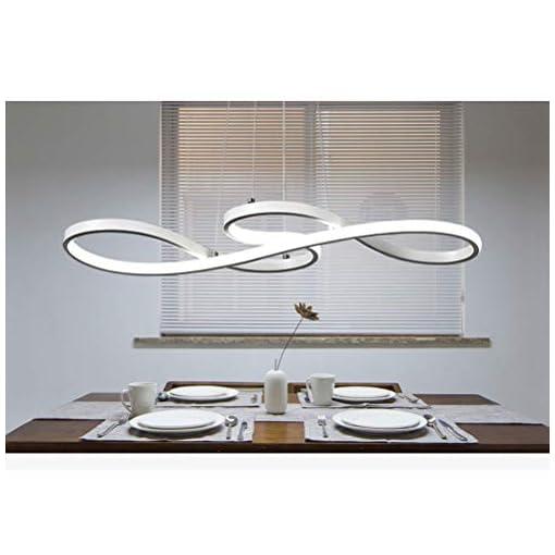 Interior Lighting Modern LED Acrylic Chandelier Dining Room Dimmable 3000K~6500K Remote Control Pendant Lights Color/Brightness Adjustable… modern ceiling light fixtures