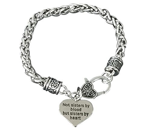 Infinity Collection Best Friends Bracelet- Not Sisters by Blood But Sisters by Heart Bracelet- Friend Jewelry for Friends
