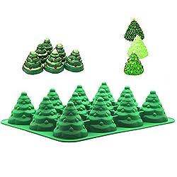 PalkSky Jumbo Size 3D Silicone 12 Cavity Tree Mold