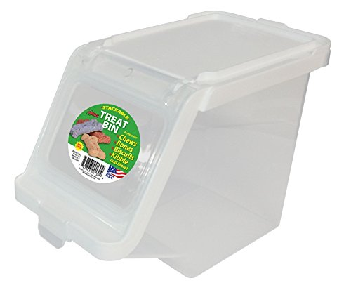- Buddeez 12-Cup Capacity Treat Containers, Clear/White