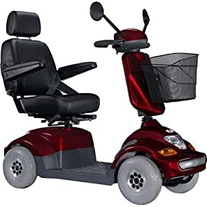 "Bolero Medium - Sized Heavy Duty 4 Wheel Electric Power Scooter with 18"" Captain Seat Top Speed 6.25 MPH Warranty: None"