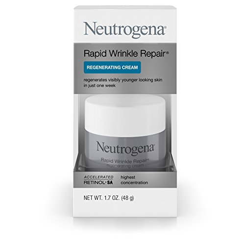 Neutrogena Rapid Wrinkle Repair Retinol Anti-Wrinkle Regenerating Face Cream, Day and Night Use, 1.7 oz (Replenisher Night)