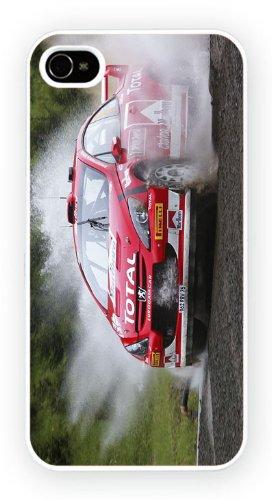 Peugeot 307 Rally Water, iPhone 4 4S, Etui de téléphone mobile - encre brillant impression