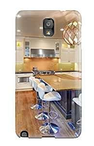 Pauline F. Martinez's Shop New Style Warm Tones Kitchen Island With Modern White Bar Stools Premium Tpu Cover Case For Galaxy Note 3 9996050K91230464