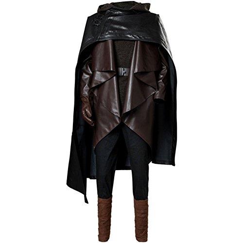 Luke Skywalker Outfit - Men's Luke Skywalker Outfit The Last Jedi Halloween Cosplay Costume Balck