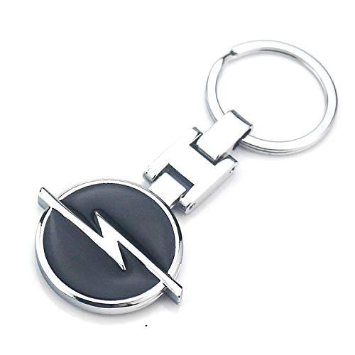 - ESMPRO Opel Car Logo Titanium Black H Key Chain Keychain Ring Keyfob Metal Keyrings