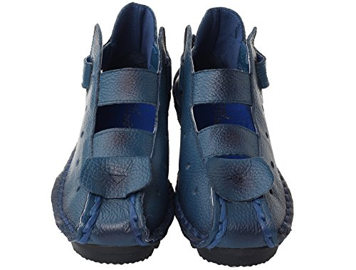 Sandali Blu Stile Scarpe Nuove Basso Tacco 2 Vogstyle Casuali Donna 0zf6E