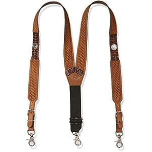 Nocona Belt Co. Men's Buffalo Nickel Basket Leather Suspender