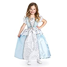 Little Adventures Traditional Cinderella Girls Princess Costume - Large (5-7 Yrs)