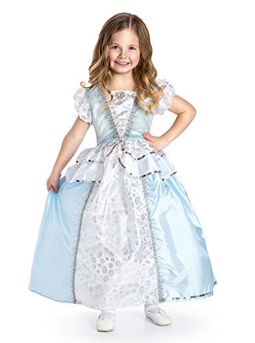 [Little Adventures Traditional Cinderella Girls Princess Costume - Large (5-7 Yrs)] (Cinderella Dress Up)