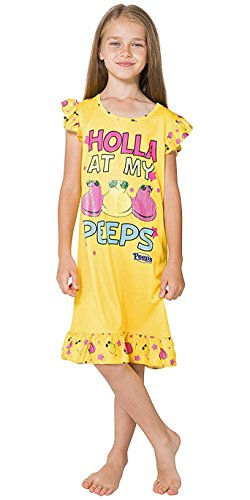 Intimo Peeps Girls' Holla At My Peeps Ruffle Nightgown