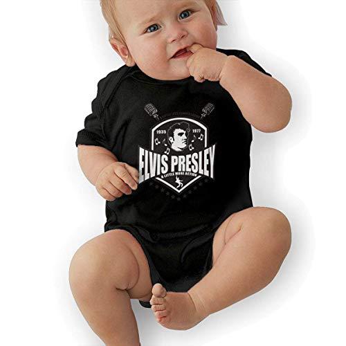 gregezrg Elvis Presley Shield Infant Baby Short Sleeve Playsuits Onesie Black