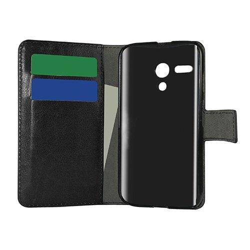 E8Q multicolor de la PU del cuero impermeable del tirón de la carpeta protectora Caja para Motorola MOTO G blanco
