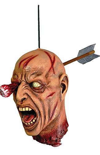 Forum Novelties Arrow Through Severed Head Zombie Hanging Property, (Severed Head Costume)