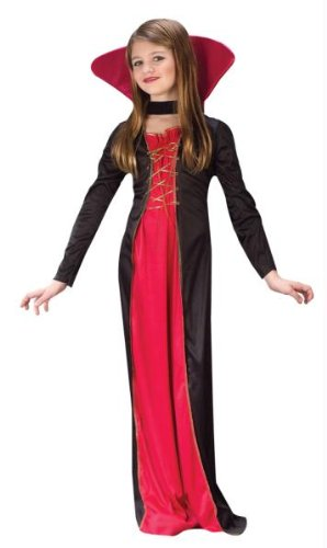 Halloween Costumes For 7 Year Old Girls (Victorian Vampiress Child Costume (Large))