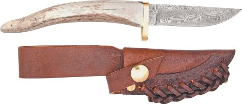 Silver Stag Knives 26 Point Random Damascus Fixed Blade K...
