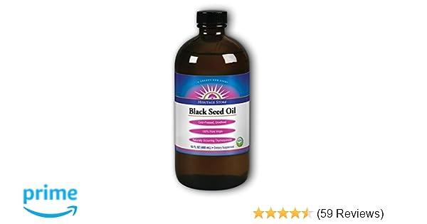 Amazon com: Heritage Store Black Seed Oil, Organic Natural