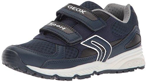 Geox Boys' Bernie 18 Sneaker, Navy, 33 M EU Big Kid (2 US)