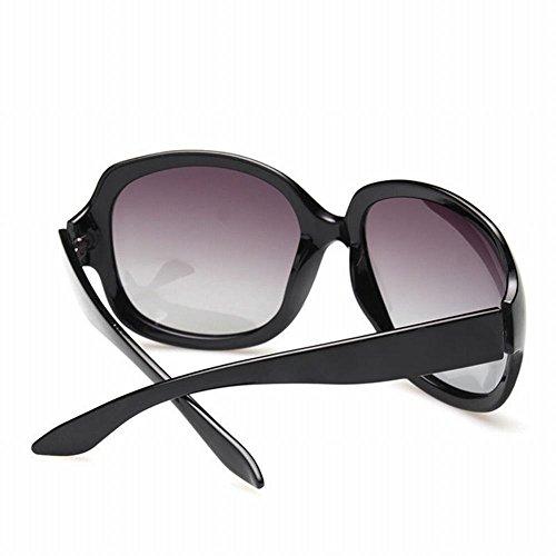 de noir Fashion Lunettes Lunettes weiwei café de WEI Conduite Soleil du Lunettes Lady de Soleil Couleur IxpIZwqB