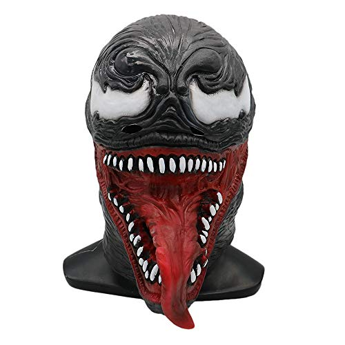 Venom Mask Cosplay with Tongue, Alien Mask Symbiote