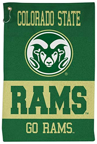 NCAA Colorado State Rams Sport Towel with Metal Grommet and Hook, 16x25 inches Colorado State Rams Golf