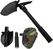 Military Folding Shovel Multipurpose Tool for Outdoor Survival Portable with Carrying Pouch for Camping, Hikin