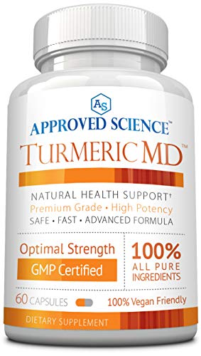 Turmeric MD – with BioPerine 95 Standardized Turmeric Curcuminoids – Natural Anti-Inflammatory, Antioxidant, Pain Relief and Antidepressant – 60 Capsules 1 Month Supply