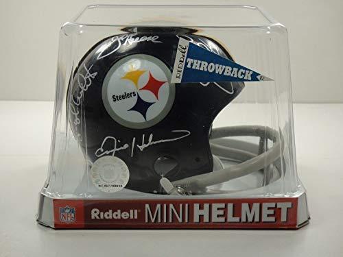 Pittsburgh Steelers Steel Curtain Psa/Dna Autographed Signed Mini Helmet Autographed Signed Rare