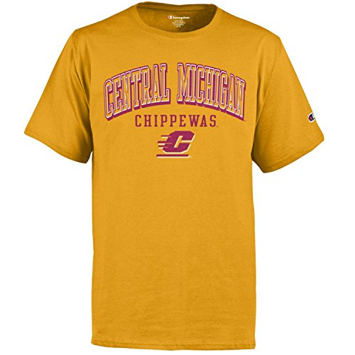 (Champion NCAA Central Michigan Chippewas Youth Short sleeve Jersey T-Shirtyouth Tee, Gold, Large)