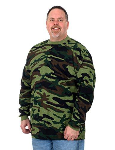 BNK Men's Long Sleeve Thermal Shirt (2X, Green Camo)
