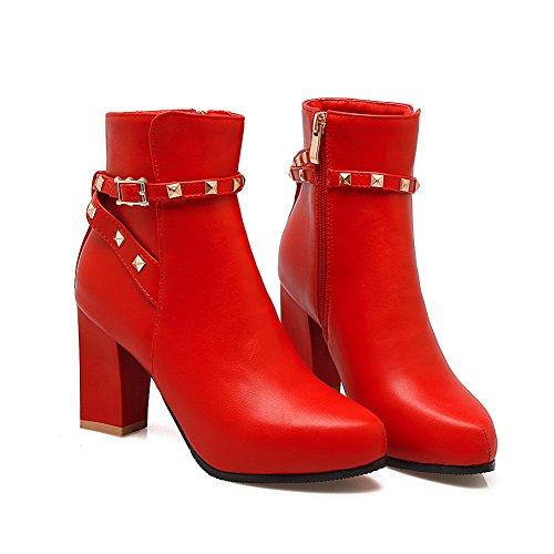 1TO9Mns01698 - Sandali con Zeppa donna, Rosso (Red), 35 EU