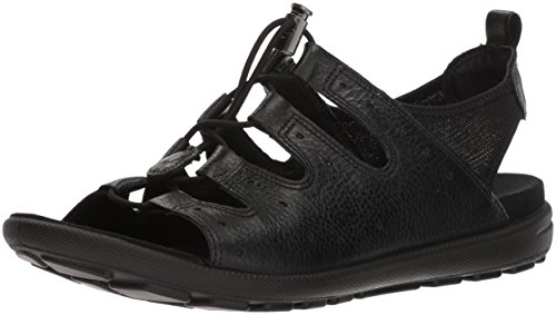 ECCO Women's Women's Jab Toggle Sandal, Black, 37 M EU (6-6.5 US)