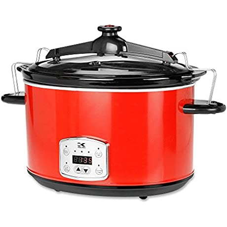 Kalorik SC 41175 SS Kalorik Red 8qt Digital Slow Cooker With Locking Lid