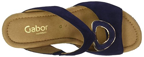 Gabor Kvinder Komfortabel Sport Muldyr Blå (blå (jute / Nærheden)) M4XnVURj5