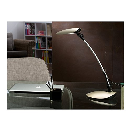 Schuller Spain 465786I4L Modern champagne Adjustable Table Lamp Black 1 Light Living Room, bed room, Study, Bedroom LED, Black Adjustable neck desk lamp | ideas4lighting by Schuller