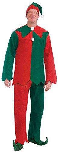 Forum Novelties Men's Toy Shop Elf, Green/Red, One (Elf Costume Cheap)