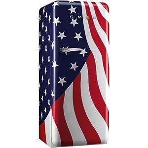 Smeg FAB28UUSL1 9.22 cu. ft. 50's Style Refrigerator - US Flag, Left Hinge 3