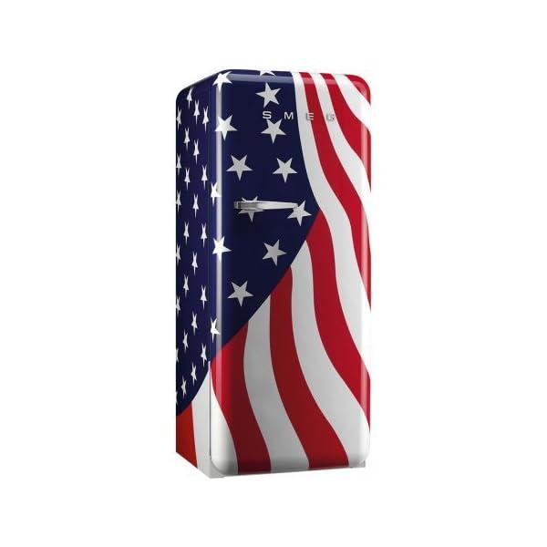 Smeg FAB28UUSL1 9.22 cu. ft. 50's Style Refrigerator - US Flag, Left Hinge 1