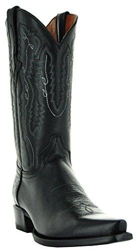 Soto Boots Rio Grande Men's Cowboy Boots (10.5, Black) (Best Handmade Cowboy Boots)