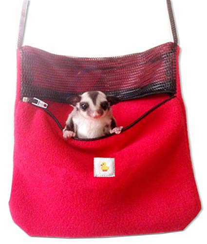 ASOCEA Small Pet Travel Carrier Packet Shoulder Bag for Hamster Rat Mice Sugar Gliders