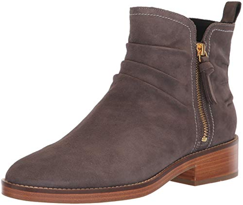 Cole Haan Women's Harrington Grand Slouch Bootie Ankle Boot, Stormcloud Suede, 10.5 B US (Womens Ankle Slouch Boots)